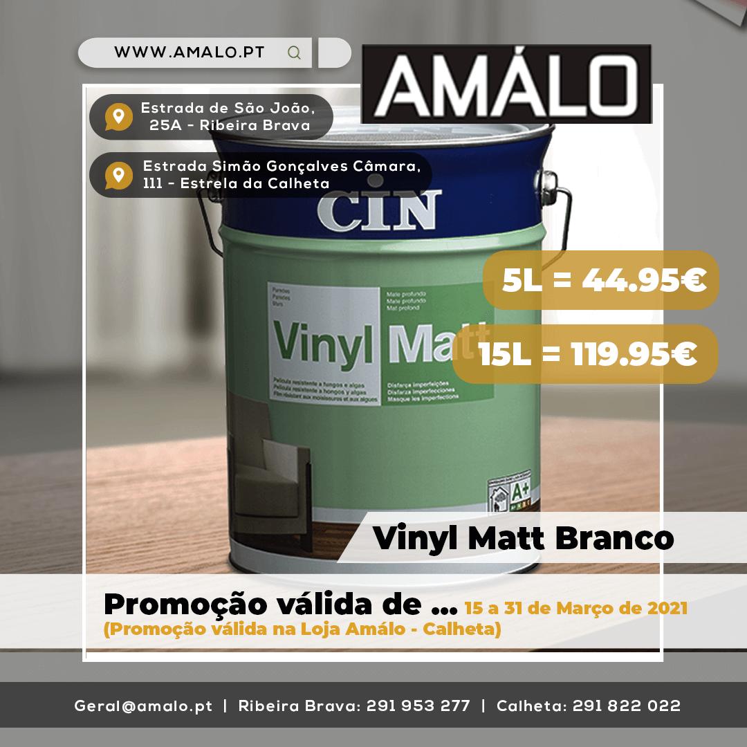 AMALO-vynil matt branco